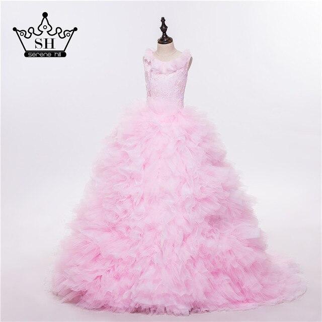 5096e59506fed Rose nuage fleur fille robes nuage bébé nuageux Puffy robe de bal fleur  fille robe grande