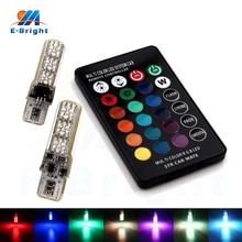2sets(4pcs)10sets(20pcs)RGB Remote Control Canbus T10 5050 6 SMD LED Silica Bulbs Car Tail Parking Lights 12V Some