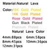 Metallicl lava stone beads 1