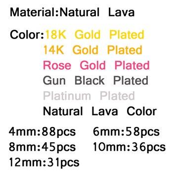 JHNBY Silver,Black,Rose Gold Natural Lava Stone 1
