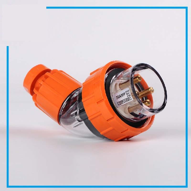 4pins 20a 56pa420 Bent Outdoor Waterproof Industry Plug