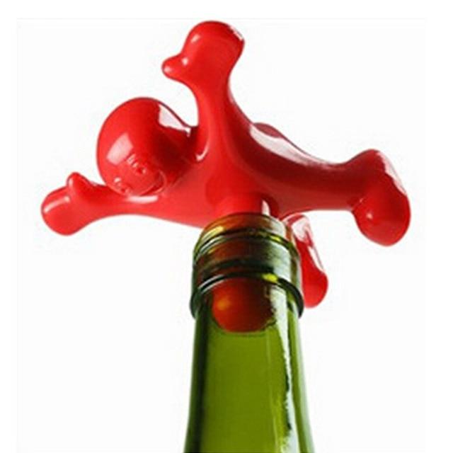 1 stück Neue Kreative Lustige Glücklicher Mann Guy Wein Stopfen ...