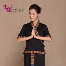 (1 set/lot)Health care beauty salon work clothes suit cotton