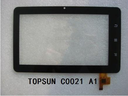 Nueva original de 7 pulgadas pantalla táctil capacitiva de múltiples puntos de la tableta TOPSUN_C0021_A1 envío gratis