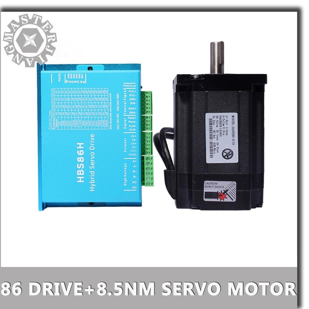 Nema 34 Stepper Motor Driver Servo Motor 86HSE8 5N HBS86H Closed loop step motor 8 5N