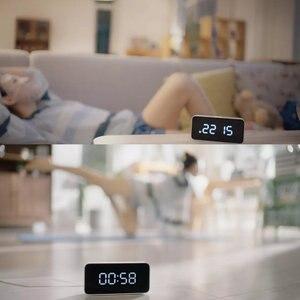 Image 5 - Xiao mi Xiaoai Smart Trasmissione Di voce Di allarme Orologio Da Tavolo ABS Dersktop Orologi AutomaticTime Lavoro di calibrazione Con mi casa app