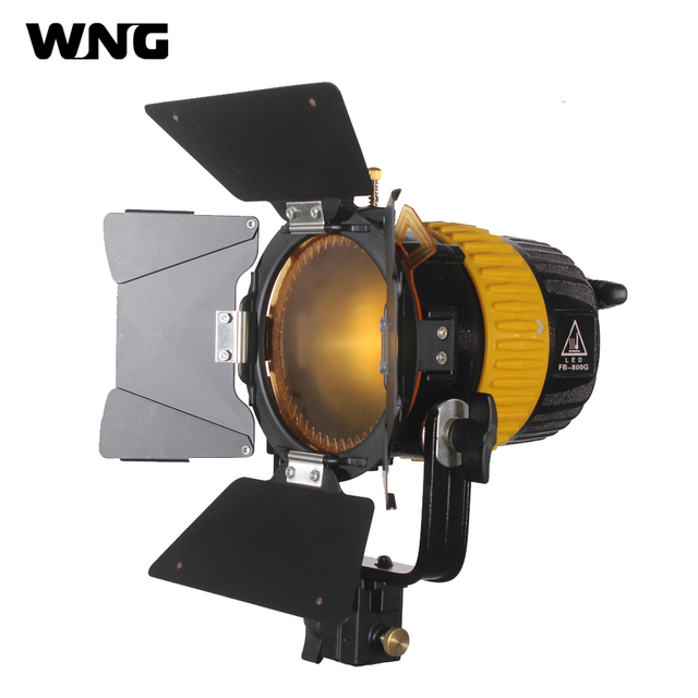 FW-800G 80W LED Fresnel Spot Light 5600K/3200K Continuous LED Studio Lighting for Movie Video Film Dimming LED Fresnel Spotlight