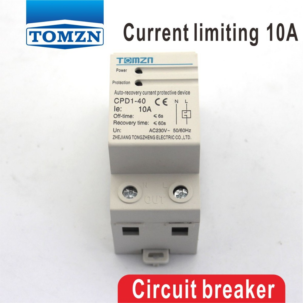 10A 10ampere CPD-63 2300W Household Din rail automatic recovery reconnect Current limiting protective device protector network recovery