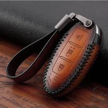 Cover Car-Key-Case G37 Infiniti Fx35 Genuine-Leather for Fx37/Fx50/G25/.. Skin-Bag