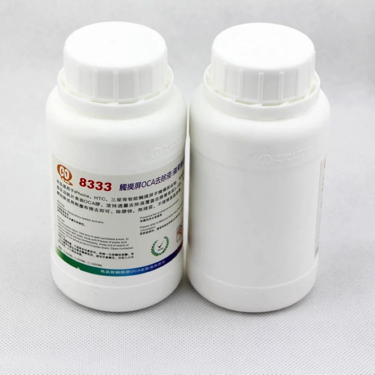 2PCS Efficient 8222 8333 8777 250ml Touch Screen OCA Removing Liquids Samsung / Mac Repair Liquid Solution Glue Cleaning Fluid2PCS Efficient 8222 8333 8777 250ml Touch Screen OCA Removing Liquids Samsung / Mac Repair Liquid Solution Glue Cleaning Fluid