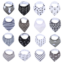 16Pack 100 Cotton Baby Bandana Drool Bibs Infant Babador Soft Absorbent Teething And Dribble Bib With