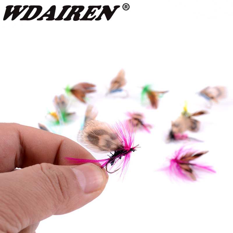 12Pcs/Set Insects Flies Fly Fishing Lures Bait High Carbon Steel Hook Fish Tackle With Super Sharpened Crank Hook Fishing Tackle 3