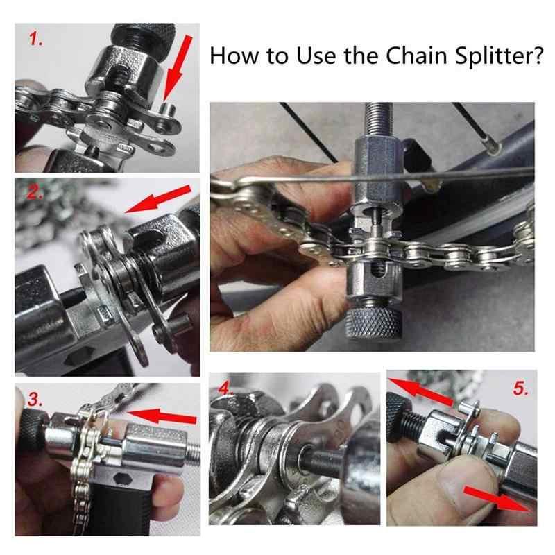 Набор из 3 единиц, велосипед инструмент ремонт стеклоочистителя и инструмент для демонтажа цепи велосипеда (Splitter Cutter выключатель + Велоспорт механик комплект + цепь износ индикатор