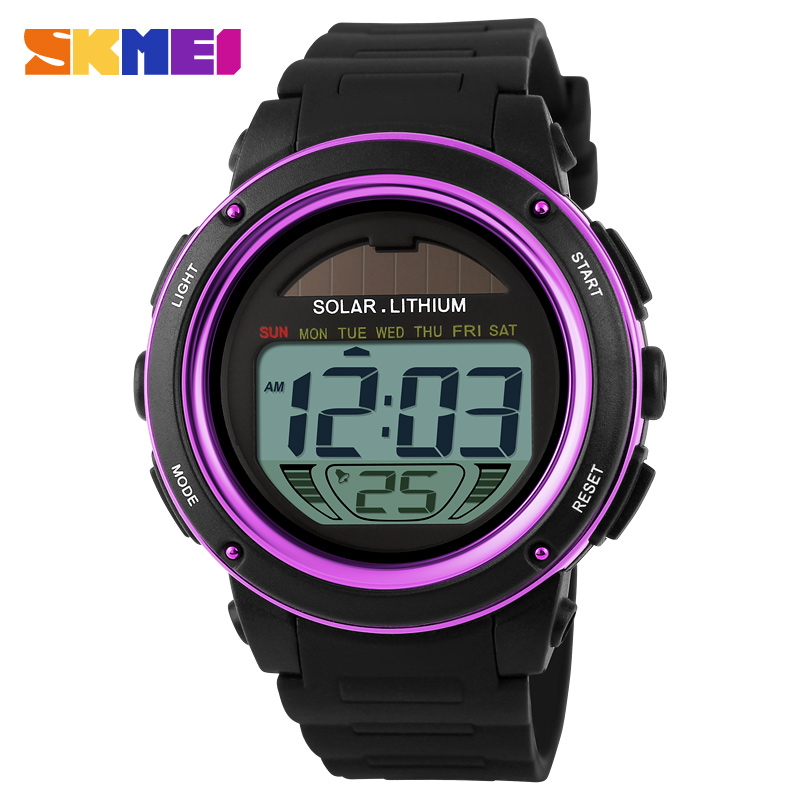 New Skmei Brand Watch Solar Energy Men Electronic Sports Watches Multifunctional Outdoor Water Resistant Digital Wristwatches Watches