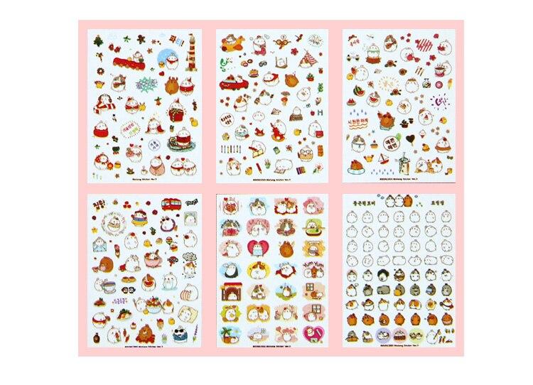 Купить с кэшбэком Korean  Cute Lovely Sticker Notebook DIY Decoration Sticky Album Diary Scrapbooking sticker for kids Stationery Stickers