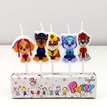 PAW Patrol одноразовые чашки кружки свечи тема мультфильма для детей Детские вечерние украшения дня рождения