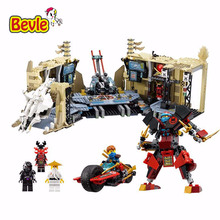 Bevle Bela 10530 Ninja Base Home Ninja Bricks Toy Building Block Toys Compatible with Lepin Toys 70596