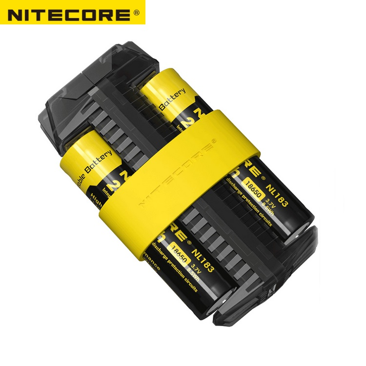 NITECORE F2 Flexible Power Bank 2A Smart Li-ion IMR Battery 2 Slots USB Charger Lightweight Portable Power Source Adapter portable universal 15000mah li ion battery dual usb power bank white light grey
