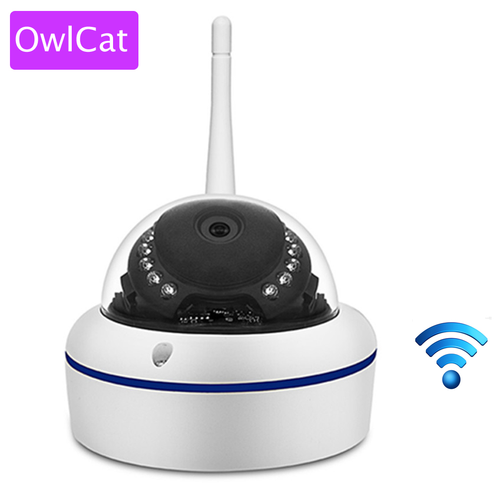 OWLCAT Home Smart Dome IP Camera Wifi HD 1080P Wireless CCTV P2P Android IOS IR Video Network IP Security Cam