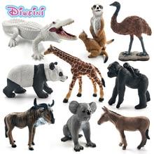 Белая крокодиловая панда Chimpanzee wildebeest, коала, олень, лебедь, фигурка животного, фигурка, украшение для дома, аксессуары, игрушки