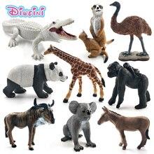 จระเข้สีขาว Panda ชิมแปนซี wildebeest Koala Deer Swan สัตว์รูป figurine home decor อุปกรณ์ตกแต่งของเล่น