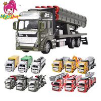 12 Types Diecast Mini Alloy Construction Vehicle Engineering Car Dump Car Dump Army Truck Model Classic