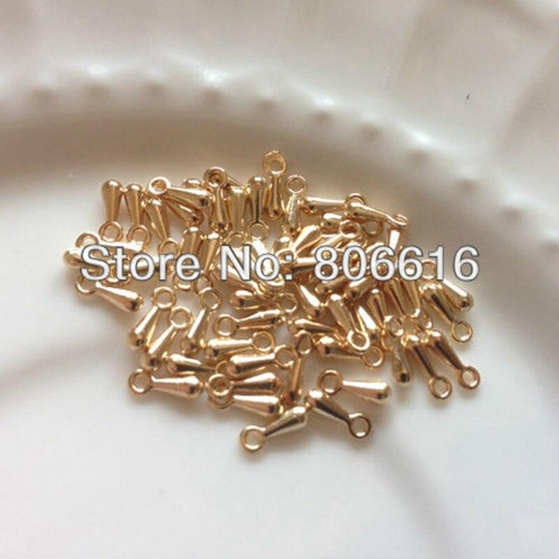 b303b83791bff 3 7 ملليمتر 500 قطعة الحزمة KC الذهب اللون تجعيد الخرز نهاية سلسلة قطرة  النتائج مجوهرات مكونات الاكسسوارات والمجوهرات