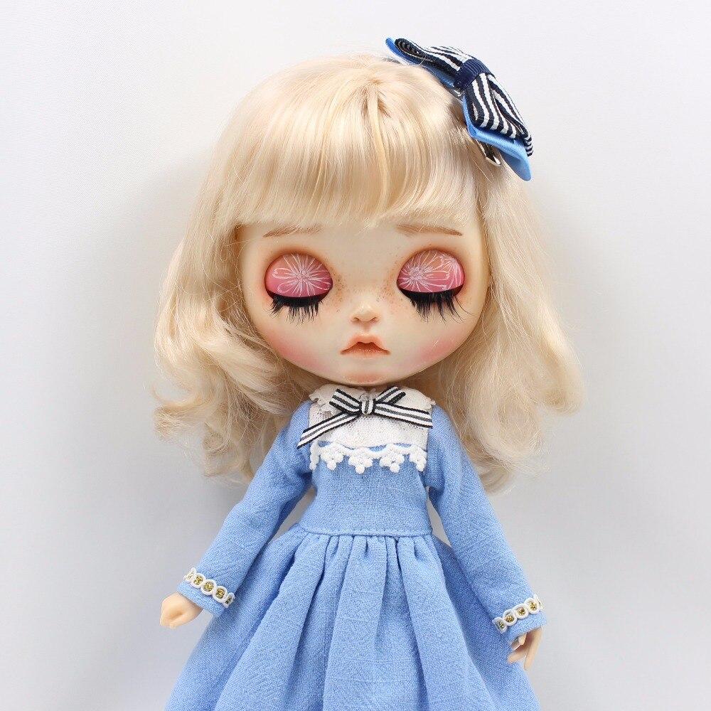 Neo Blythe Doll Blue Dress With Headdress 3