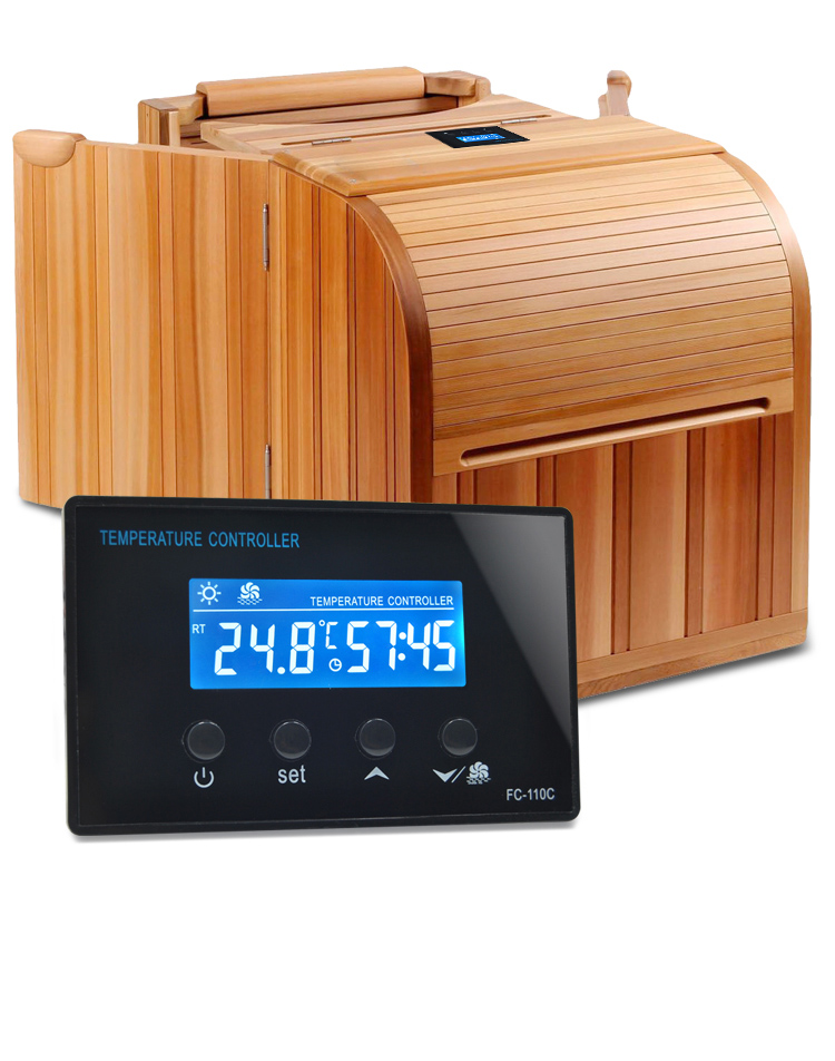 buy digital lcd mini sauna room temperature controller with foot spa from. Black Bedroom Furniture Sets. Home Design Ideas