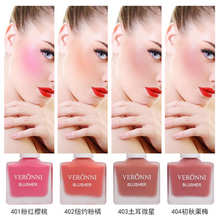 цена VERONNI Makeup Liquid Blusher 4 Color Natural Sleek Silky Blush Contour Rouge Make Up Peach Cheek Blush Face Cosmetics