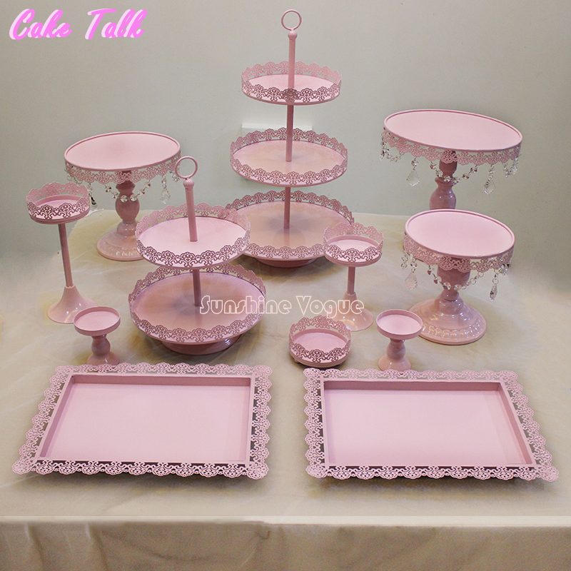 12 Pieces Cake Stand Set For Birthday Party Supplier For
