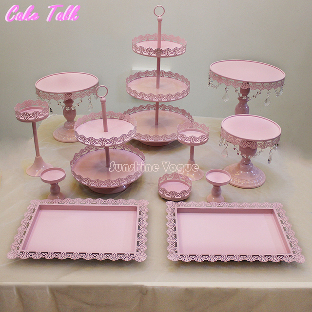 12 wedding cake stand 12 pieces cake stand set for birthday supplier for 10037