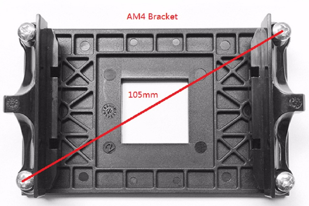 PcCooler For AMD AM4 Special CPU Cooler Bracket Motherboard Socket AM4 CPU Fan Intall Fastening Plastic Stents Framework Frame