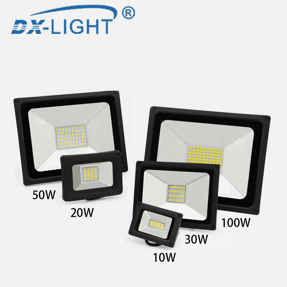 10W 50W 100W perfect power LED Flood Light Floodlight LED street Lamp 220V 240V waterproof Landscape Lighting IP65 led spotlight