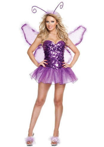 3c8982ab7b Free Shipping Halloween purple clothing with sparkle tube top Butterfly  Princess Dress Costumes stage outfits