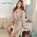Tinyear Новое Прибытие женские Халаты Атласная Полосатый Ночной халат Мода Банный Халат для Женщин