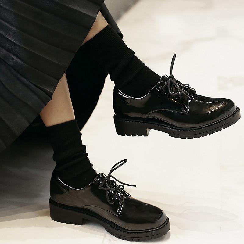 Women Patent Leather Casual Flat Shoes