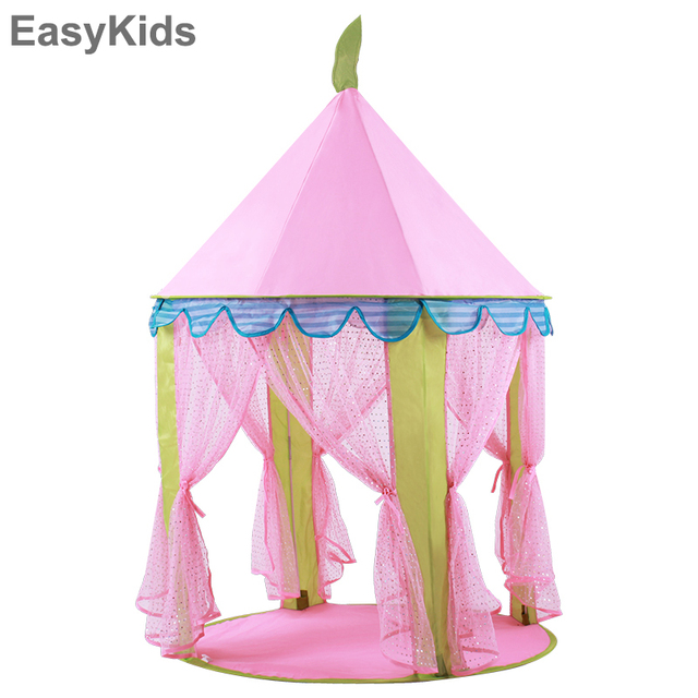 check out 3fe0c fa7ce US $36.07 18% OFF|Lovely Toys Tent Pink Princess Portable Teepee Castle  Play Tent Tipi Kids Playhouse Lodge Balls Pool Cottages Best Girls Gift في  ...