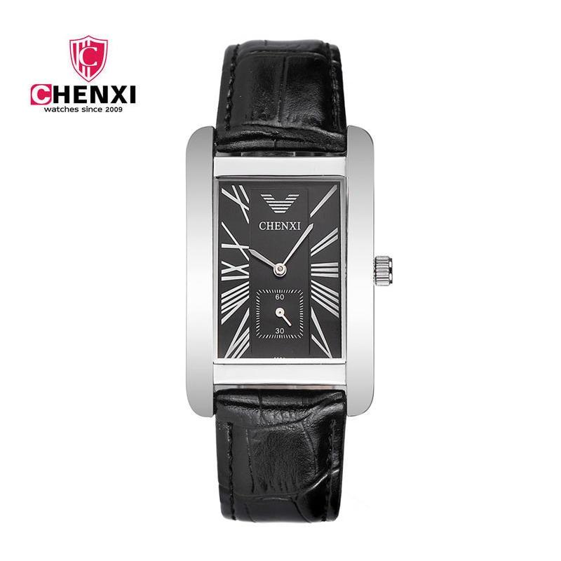 יוקרה גברים שעונים CHENXI כסף שחור - שעונים גברים