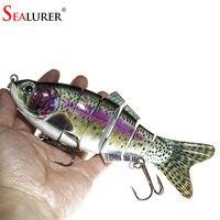 New Artificial Bait Big Fishing Lure 6 Segment Swimbait Crankbait Hard Bait Slow 110g 20cm Fish