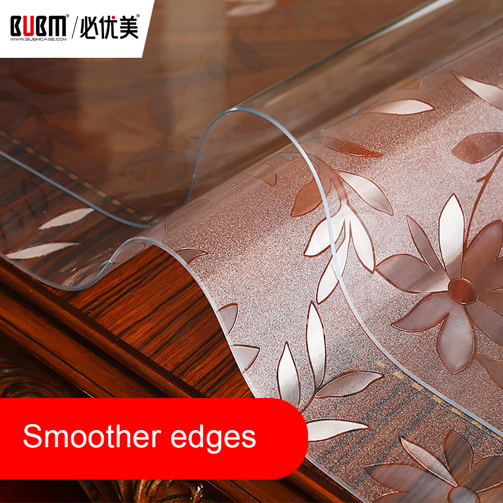 Us 54 4 20 Off Bubm Non Slip Waterproof Clear Tablecloth Table Desk Protector Thicken Cover Pvc Writing Mat Dining Pad In Tablecloths