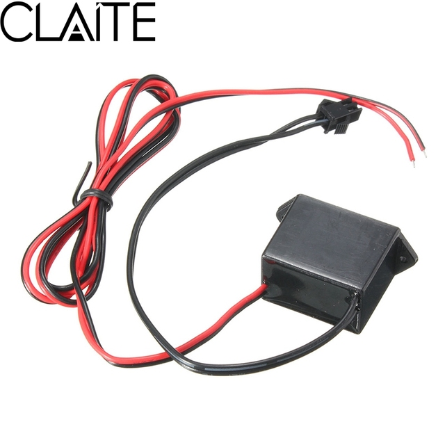CLAITE El Wire DC 12V Drive Controller For 1 10M EL Soft Tube Wire ...
