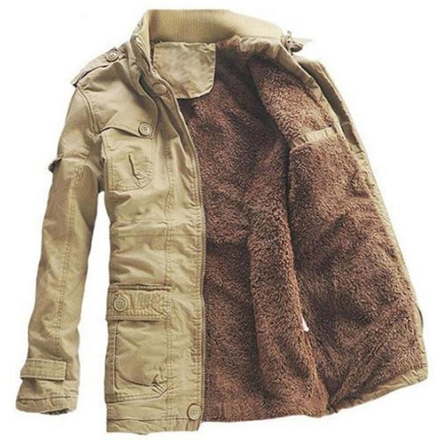 חורף מעיל גברים מזדמן לעבות כותנה חם גשם ארוך מעיל מעיל רוח Parka צמר מעילים בתוספת גודל 5XL מעיל צבא מעילים