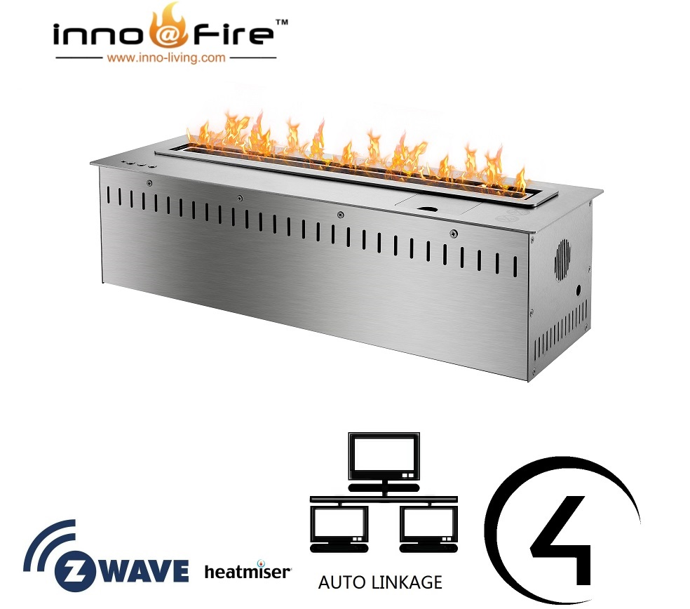 Inno Living Fire 36 Inch Bioethanol Fireplace With Remote Wifi Control