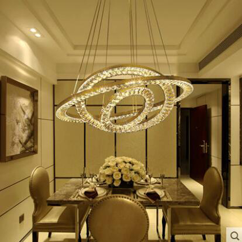 все цены на Restaurant crystal chandelier modern simple dining room three chandelier personality creative living room lamp atmospheric lamp