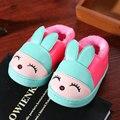 Kids Home Slippers Shoes Winter Cotton Indoor Shoes Children Warm Waterproof Rabbit Indoor Slippers Autumn Baby Slippers