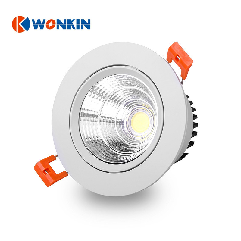 5W 7W COB bathroom led ceiling light Recessed Spot Indoor Light AC85 265V  Warm