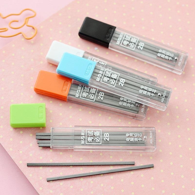 5pcs/lot M&G Mechanical Pencil Lead Graffiti Refill 2B Examination Test Automatic Pencil Leads Refill For School Office Supplies