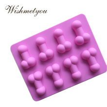 WISHMETYOU Silicone Soap Mold Sex Toys Funny Cake Decorating Tools 8 Hole Ice Cube Irregular graphics Love Handmade