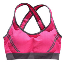 SZ-LGFM-Seamless Sport Bra Top Comfortable Bra Push up For Sports-Rose Red(China)